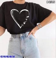 Футболка heart черная SV