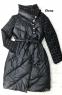 Комбинированное пальто ворот клетка LE