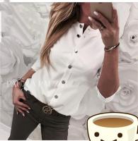 Рубашка лайт стойка ворот белая A133