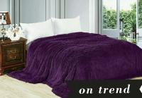 Меховой плед 220×240 purple