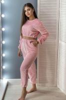 Домашний плюшевый костюм розовый IN