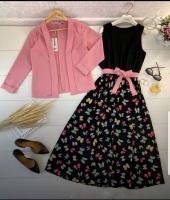 Двойка платье бабочки и Пудра пиджак Kh