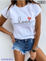 Футболка Love с сердечком белая SV