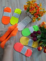 Невидимые носки цветные 1054