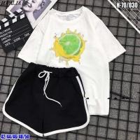 Шорты и футболка белая Сочный Лайм SV