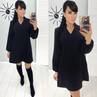 Платье барби трапеция Черное  RH122