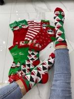 Носки женские высокие новогодние
