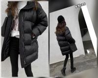 Удлинённая куртка черная H-203