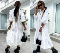 Платье лайт длинное белое Z109