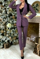 Классический костюм пиджак и брюки лиловый M116