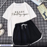 Шорты Size Plus и футболка READY белая SV