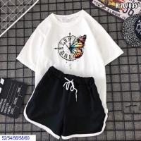 Шорты Size Plus и футболка бабочка-часы белая SV