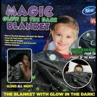 Светящийся в темноте плед Magic Glow in the Dark Blanket