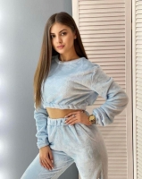 Домашний плюшевый костюм голубой IN