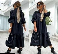 Платье лайт длинное черное Z109 112