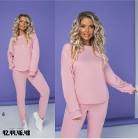 Костюм кофта и брюки трикотаж розовый RH122