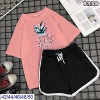 Шорты и футболка ананас розовая SV