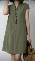 Платье барби с карманом Хаки RH122