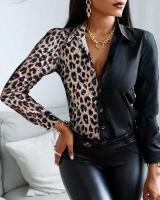 Рубашка черно-леопардовая RH122