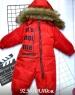 Детский комбинезон на меху ITS NOT ME красный Xi