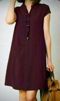 Платье барби с карманом Бордо RH122