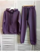 Костюм с капюшоном утепленный фиолет R4-123