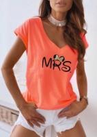 Футболка с треугольным вырезом MRS оранжевая SV