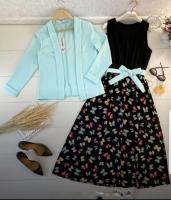 Двойка платье бабочки и Мята пиджак Kh