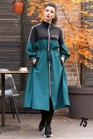 Платье барби JEANS зеленое um29