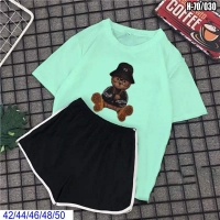 Шорты и футболка Мишка в шляпе бирюза SV
