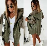 Куртка комбинированная хаки O114