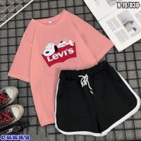 Костюм футболка розовая Снуппи и шорты SV