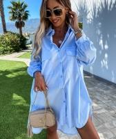 Туника-рубашка голубая AZ116 118