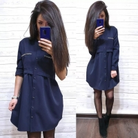Платье барби темно-синее S111