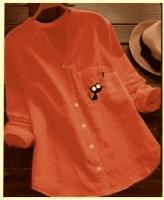 Рубашка котик и рыбка оранжевая RX45