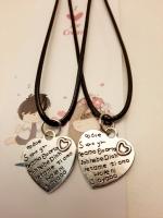 Комплект из 2 ожерельев на шнурке с подвеской сердца с надписью