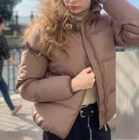 Куртка дутик стойка ворот каппучино ZI D31