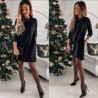 Платье барби классика Черное K115 A116