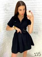 Платье с ремешком-сумочкой чёрное DIM