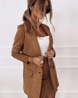 Костюм спандекс пиджак и юбка песочный K115 116 O114