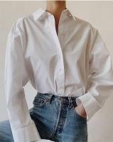 Рубашка лайт свободного-кроя белая O114