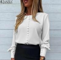 Блузка пуговки белая лайт A116