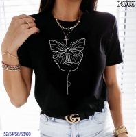 Футболка SIZE PLUS lady butterfly черная SV