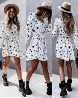 Платье прада со звездами белое A133 115