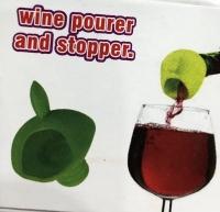 Пробка-лейка для винных бутылок wine pourer and stopper
