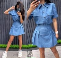 Платье легкая джинса деним RH06
