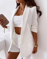 Костюм пиджак и шорты барби белый X118