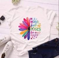 Футболка семицветик roses белая D31