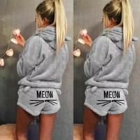 Домашний плюшевый костюм MEOW серый IN
