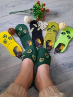Невидимые носки три авокадика 0080
